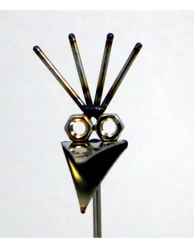 Steinvogel micro ca.22cm hoch Kamm zur Wahl aus Granit und Edelstahl