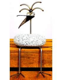 Kantenhocker SV 204 ca. 30cm hoch aus Granit und Edelstahl