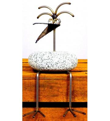 Kantenhocker SV 204 ca. 30cm hoch aus Granit und Edelstahl Original Gebrüder Lomprich