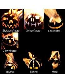 Feuerkugel aus Edelstahl zur Wahl 4 verschiedene Motive