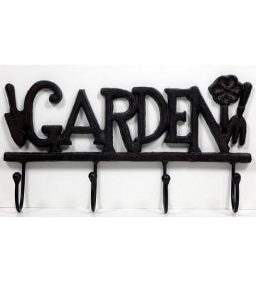 """Hakenleiste """"Garden"""" ca. 29cm breit aus Gusseisen"""