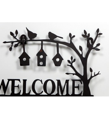 """Hakenleiste """"Welcome"""" ca. 28cm breit aus Gusseisen"""