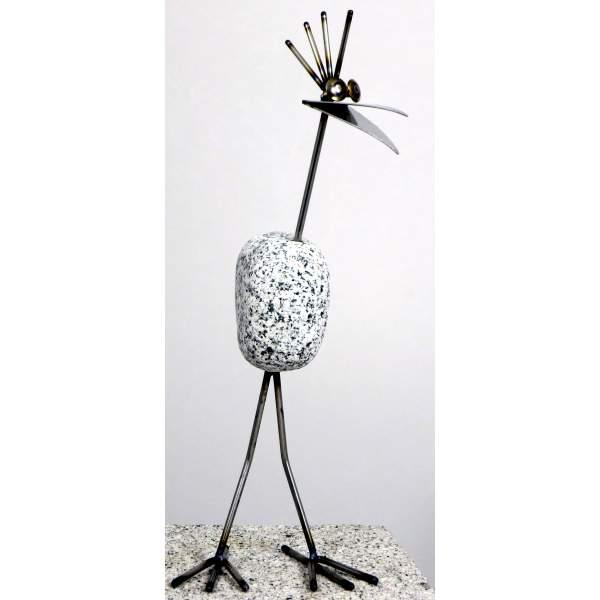 steinvogel sv mini 1 ca 30cm hoch aus granit und edelstahl. Black Bedroom Furniture Sets. Home Design Ideas