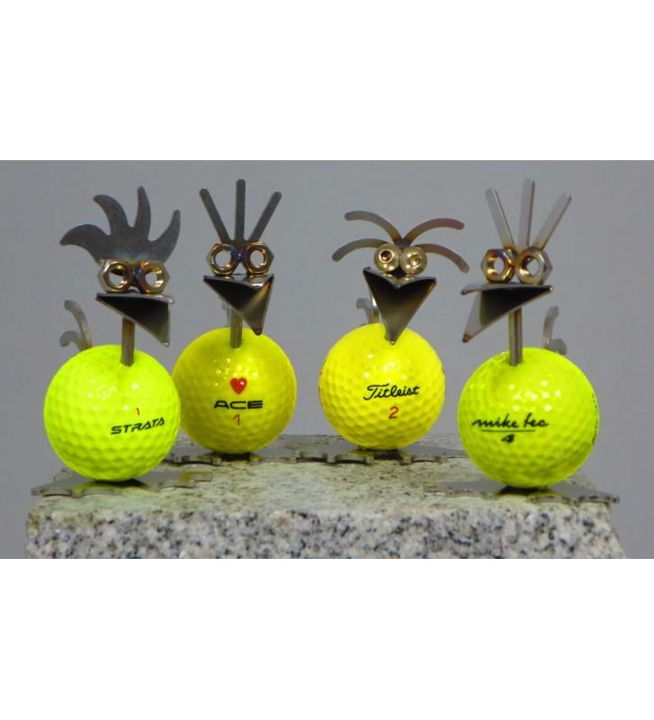 Birdie mit Golfball ca. 8,5cm hoch zur Wahl
