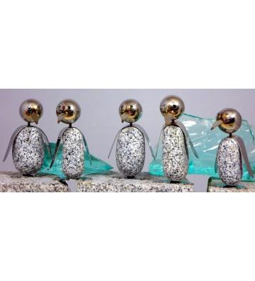 Pinguin S ca.15cm hoch aus Granit und Edelstahl Original Gebrüder Lomprich