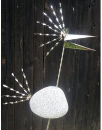 Steinvogel SVXL109 S ca.100 cm hoch aus Granit und Edelstahl