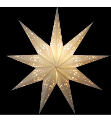 Leuchtstern Babay Mirissa weis 9 Zacken 40 cm mit Magnetverschluss