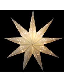 Leuchtstern Mirissa weiß 9 Zacken ca. 60 cm mit Magnetverschluss