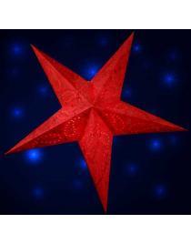 Leuchtstern Anati Batik rot 5 Zacken 60 cm mit Magnetverschluss