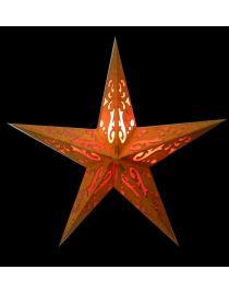Leuchtstern Baby Curves orange/glitter 5 Zacken 40 cm mit Magnetverschluss