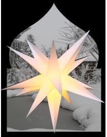 Leuchtstern für Außen XL weiß ca. 55 cm, 15 Zacken,  inkl. Außenkabel 4 Meter