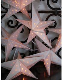 Leuchtsterne Set Batik je ca. 15 cm 10 Stück Farbe zur Wahl