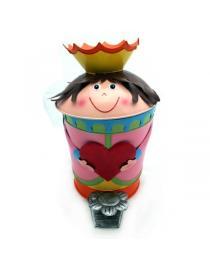 """Tretabfalleimer """"Prinzessin"""" ca. 42 cm hoch Handarbeit"""