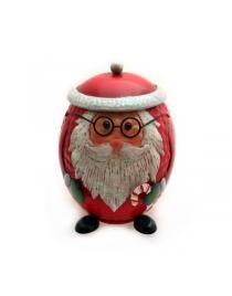 """Tischabfalleimer aus Metall rot """"Santa"""" ca. 18 cm hoch"""