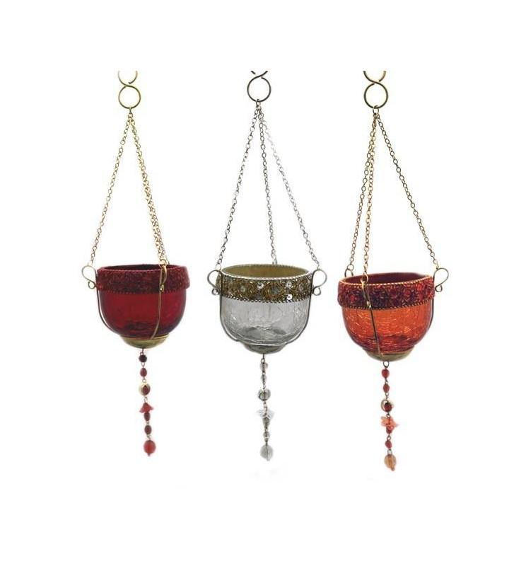 Windlicht Glas im orientalischen Stil zur Wahl Gesamtlänge ca. 33 cm lang