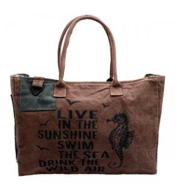 Reise-Strandtasche im Vintage Stil