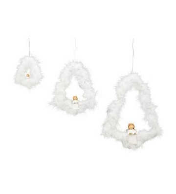 LED Hänger Engel mit Buch ca. 24 cm hoch