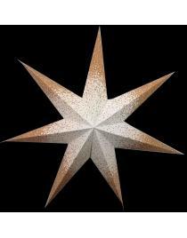 Leuchtstern Meteor Goldcrash weiß/gold 7 Zacken Zippverschluß