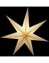 Leuchtstern Melchior weiß/Goldglitter 7 Zacken mit Zippverschluß