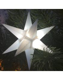 "Leuchtstern ""Star"" single weiß 3D mit LED Beleuchtung"