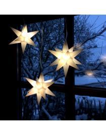 "Leuchtstern ""Starled 3-er Set weiß 3D mit LED Beleuchtung incl. Netzteil"