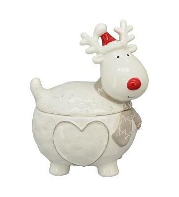 Dose aus Keramik Santa Gris weiß