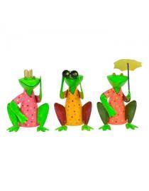 Zaunhocker Frosch aus Metall zur Wahl