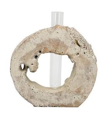 Vase Vala aus Zement/Glas ca. 33 cm hoch