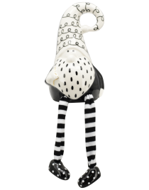 XOXO Weihnachtsmann Keramik schwarz/weiß ca. 11 cm