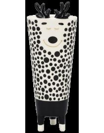 Vase XOXO Keramik schwarz/weiß/goldf. ca. 22,5 cm
