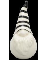 Santa XOXO Keramik weiß/schwarz ca. 12 cm