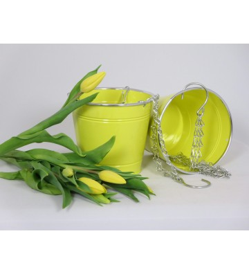 Blumenhänger gelb aus Metall insg. ca. 37cm