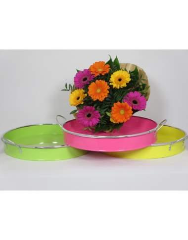 Metalltablett zur Wahl in 3 Farben ca. 30cm Durchmesser