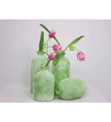 Glasvase bauchig grün zur Wahl ca. 25cm oder 17cm