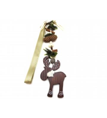 """Weihnachtsmotivkette """"Elch"""" braun/grün ca. 120cm lang"""