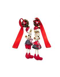 Motivkette Maus rot/grau zur Wahl ca. 120cm lang