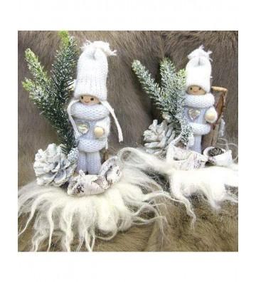 Weihnachtsdeko Schneezauber Wichtel ca. 14 cm hoch
