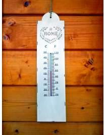 Thermometer aus Metall im Shabby Chic Stil ca. 40 cm lang