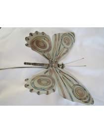 Gartenstecker Schmetterling ca. 200 cm lang am Schwingstab aus Edelstahl