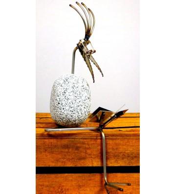 Kantenhocker SV Buch ca. 35cm hoch aus Granit und Edelstahl