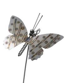 Gartenstecker Schmetterling aus Edelstahl am Stab ca.75cm