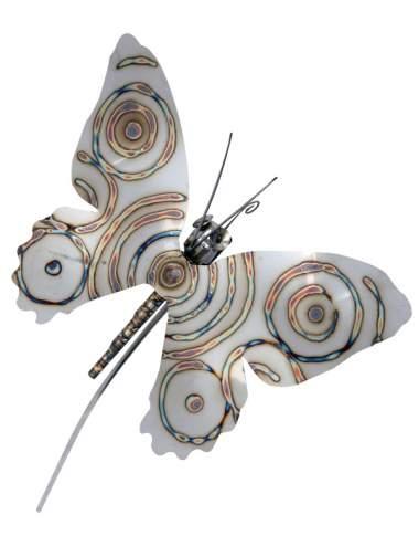 Gartenstecker Schmetterling ca. 150 cm Länge am Schwingstab aus Edelstahl
