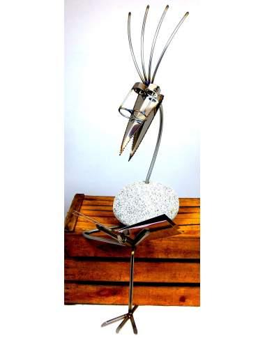 Kantenhocker SV XL Buch ca. 93cm hoch aus Granit und Edelstahl