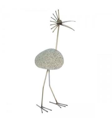 Steinvogel SV 100 ca. 45cm hoch aus Granit und Edelstahl